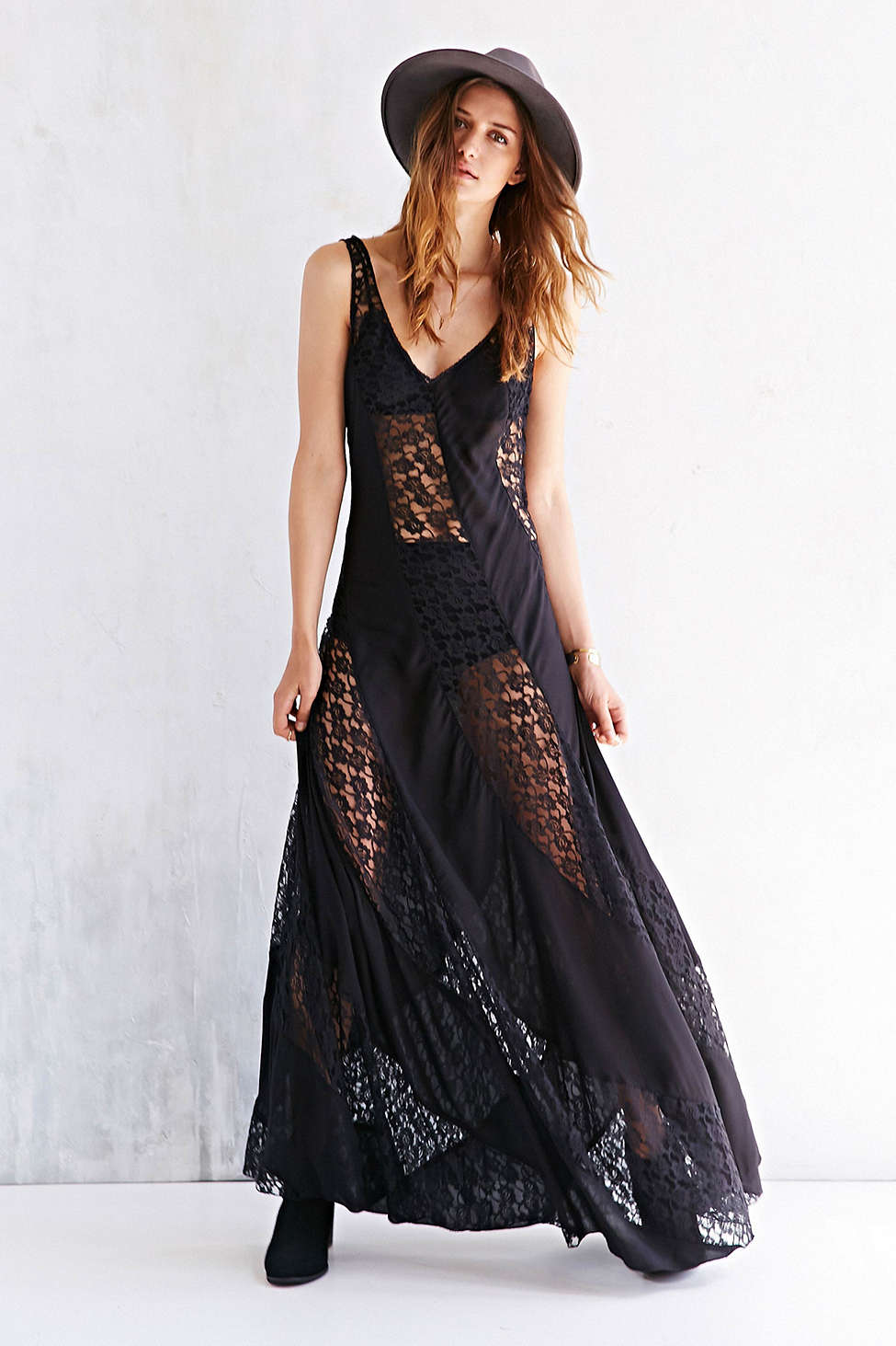 Black lace dress urban outfitters